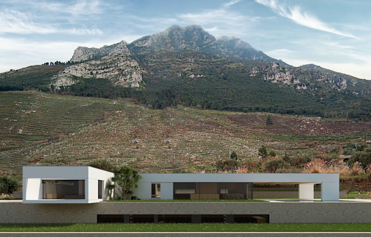 Villa sicilienne de ALESSIO LO BELLO ARCHITETTO a Palermo Modern
