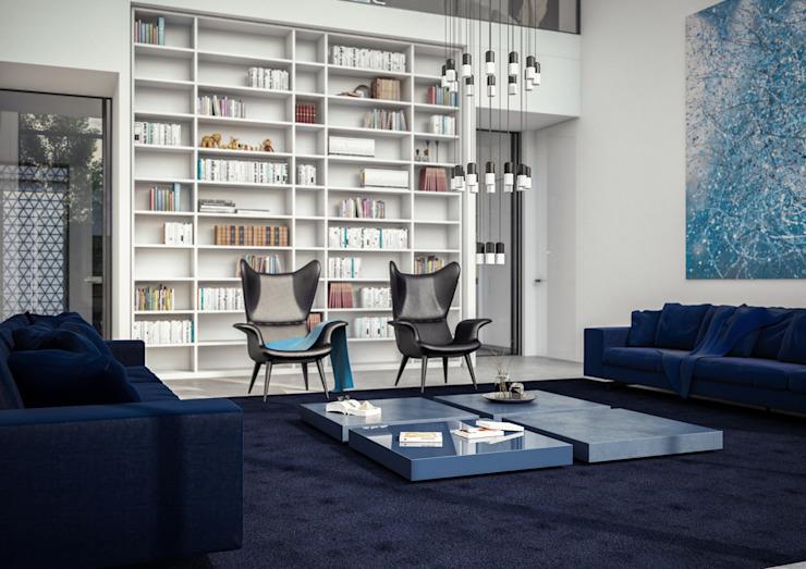 Salon minimaliste par Aeon Studio Minimalist