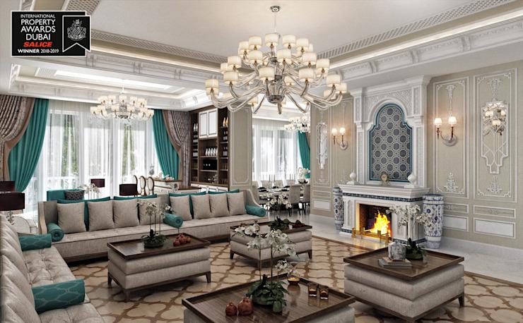 Salon / Sitak Villa Salon de style classique par Sia Moore Archıtecture Interıor Desıgn Marbre classique