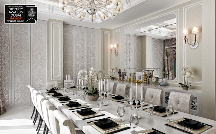 Salle à manger / Sitak Villa Salle à manger de style classique par Sia Moore Archıtecture Interıor Desıgn Classique en bois massif multicolore