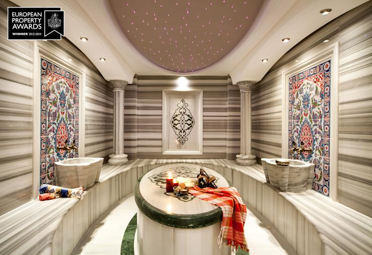 Bain turc / Bosphorus City Villa de Sia Moore Archıtecture Interıor Desıgn Marbre classique