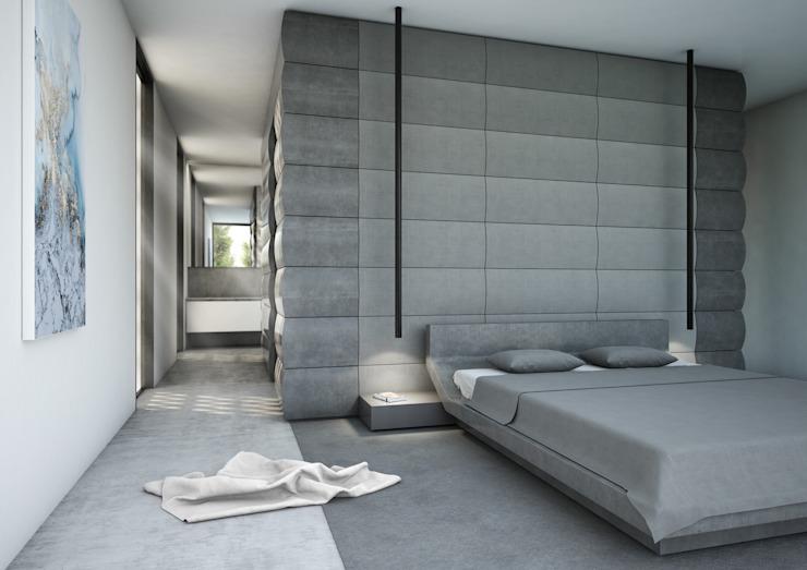 Chambre à coucher minimaliste par Aeon Studio Minimalist Marble
