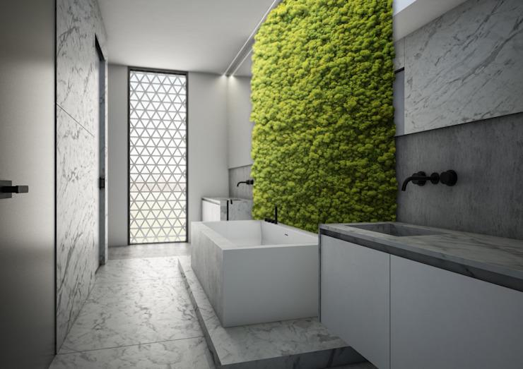 Salle de bain minimaliste par Aeon Studio Minimalist Marble