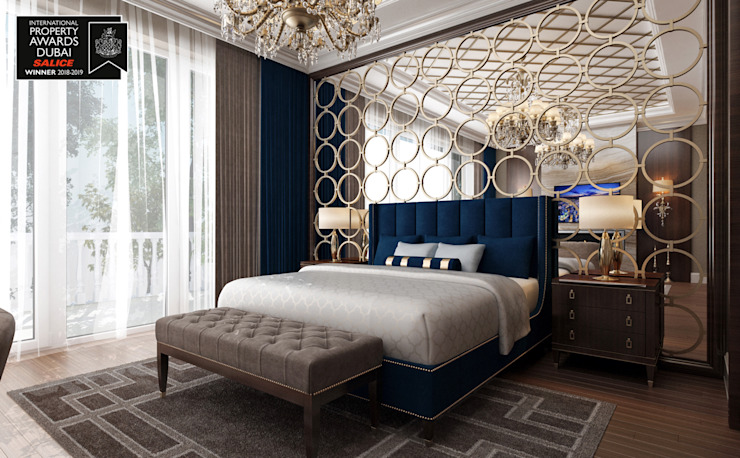 Chambre à coucher principale - 2 / Sitak Villa de Sia Moore Archıtecture Interıor Desıgn Bois massif classique multicolore