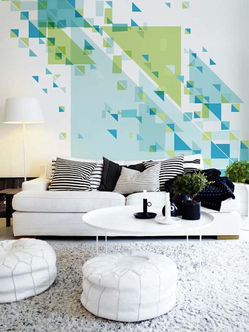 Unimposing Geometry Minimalist salon par Pixers Minimalist