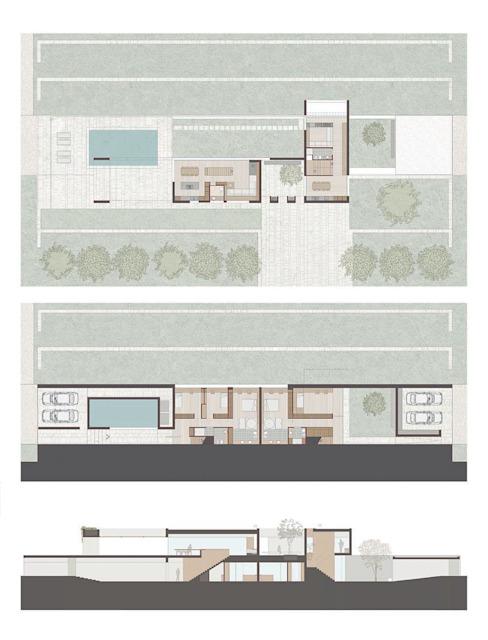 Plan des maisons de la Villa Modern d'ALESSIO LO BELLO ARCHITETTO a Palermo Modern