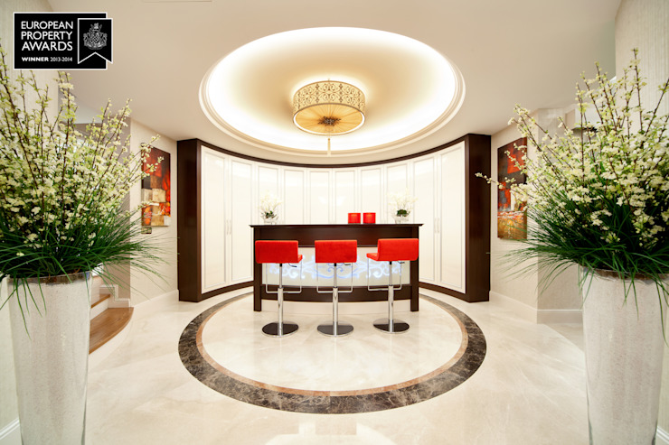 Espace bar / Bosphorus City Villa Cave à vin de style classique par Sia Moore Archıtecture Interıor Desıgn Marbre classique