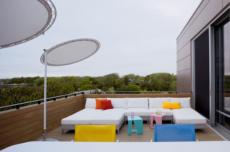 Balcon, véranda et terrasse modernes par SPG Architects Modern