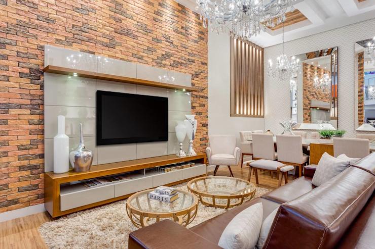 Salon moderne par Ideatto Móveis e Decorações Modern