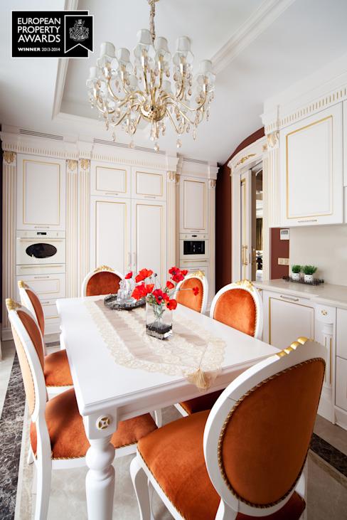 Cuisine - 2 / Bosphorus City Villa de Sia Moore Archıtecture Interıor Desıgn Effet bois classique