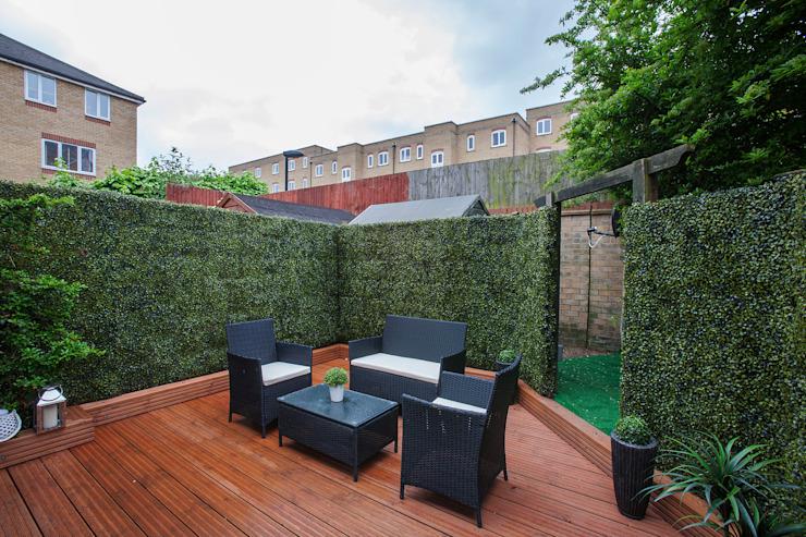Jardin - Canary Wharf Jardin moderne par Millennium Interior Designers Modern