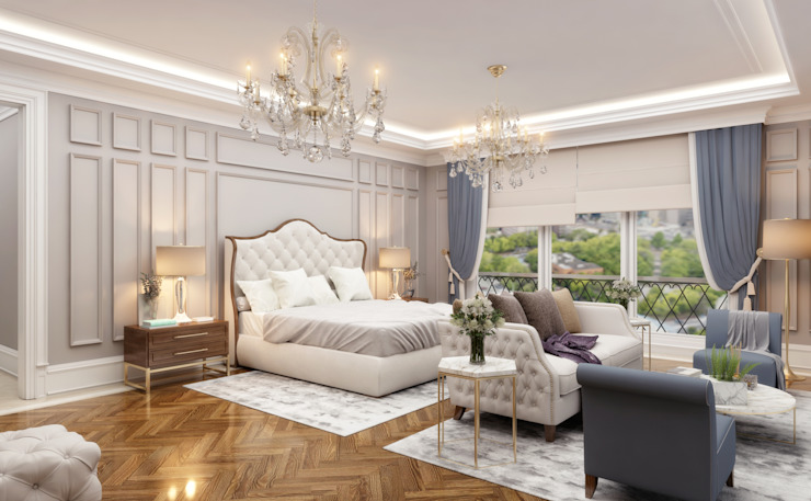 Chambre à coucher principale Salon de style classique par Sia Moore Archıtecture Interıor Desıgn Classique
