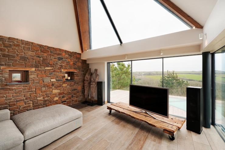 Down Barton, Devon Salon moderne par Trewin Design Architects Modern