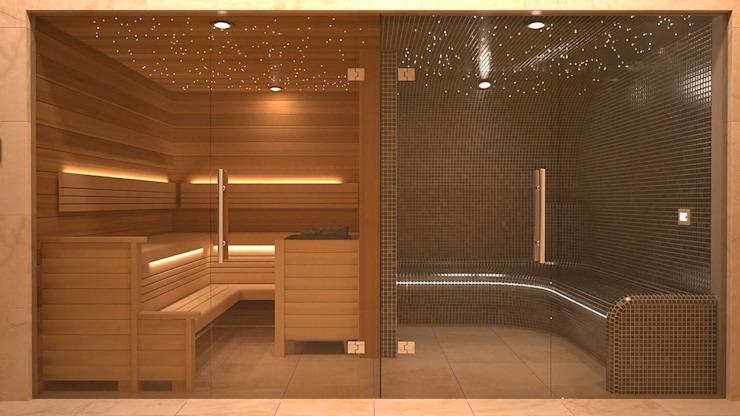 Conception et installation de la vapeur et du sauna. Spa moderne par Nordic Saunas et Steam Modern