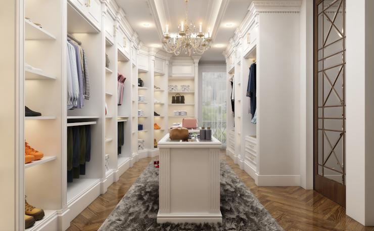 Dressing Room Salon de style classique par Sia Moore Archıtecture Interıor Desıgn Classique