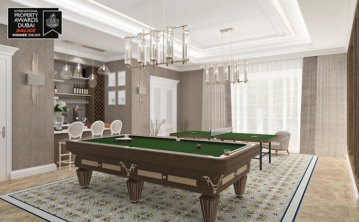 Billard Room / Sitak Villa Salon de style classique par Sia Moore Archıtecture Interıor Desıgn Marbre classique