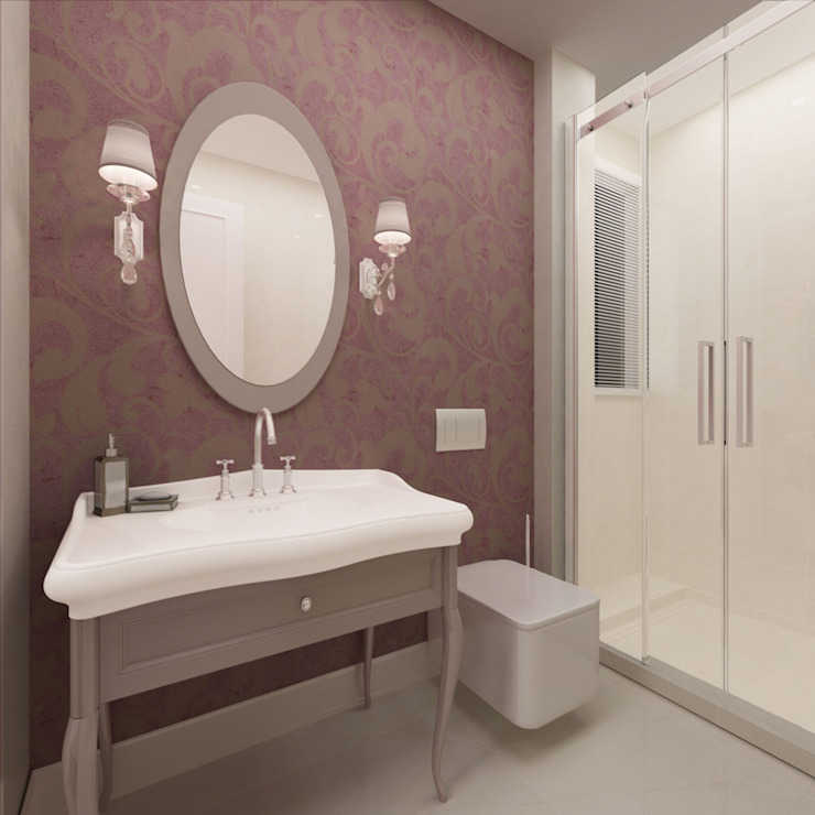 Salle de bains des filles / Hayat Villas Salle de bains moderne par Sia Moore Archıtecture Interıor Desıgn Céramique moderne
