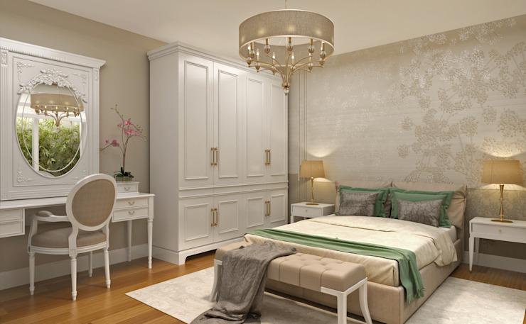 Guest Bedroom - 1 / Hayat Villas by Sia Moore Archıtecture Interıor Desıgn Bois massif moderne multicolore