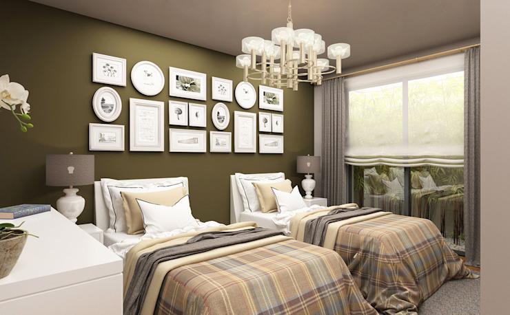 Chambre d'hôtes - 2 / Hayat Villas par Sia Moore Archıtecture Interıor Desıgn Bois massif moderne multicolore