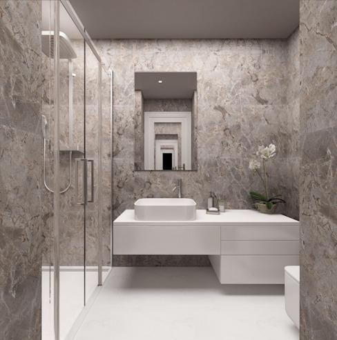 Salle de bains / Hayat Villas Salle de bains moderne par Sia Moore Archıtecture Interıor Desıgn Céramique moderne