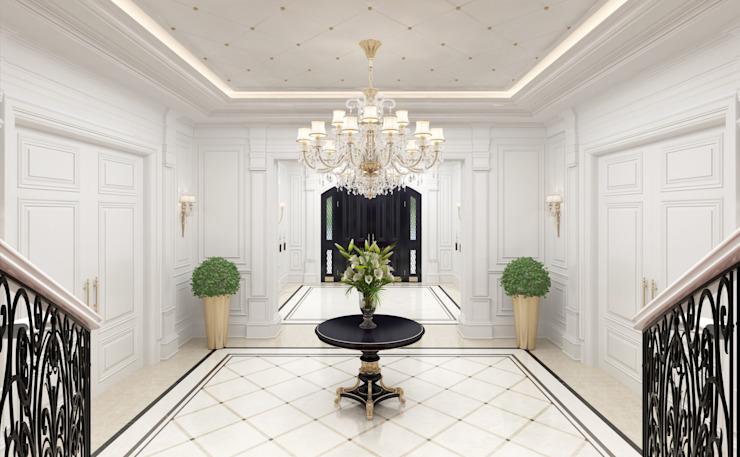Hall d'entrée Couloir, couloir et escaliers de style classique par Sia Moore Archıtecture Interıor Desıgn Classique