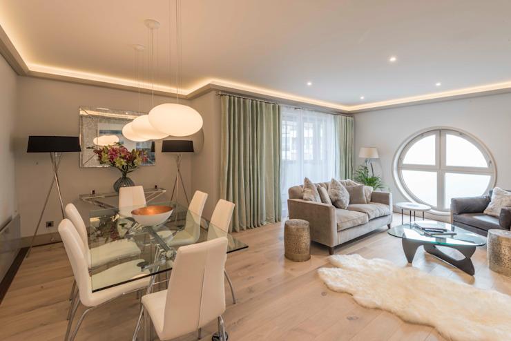 Salon Salon moderne par Prestige Architects Par Marco Braghiroli Modern