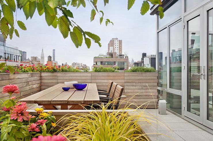 Balcon, véranda et terrasse minimalistes par BILLINKOFF ARCHITECTURE PLLC Minimaliste