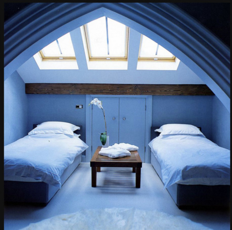 Une maison dans l'église St Saviours, Knightsbridge, Londres Chambre à coucher de style moderne par 4D Studio Architects and Interior Designers Modern