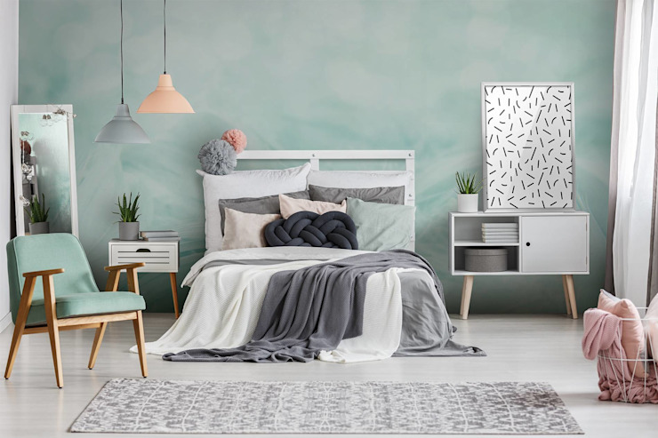 Scandinavian Mint Chambre à coucher de style scandinave par Pixers Scandinavian