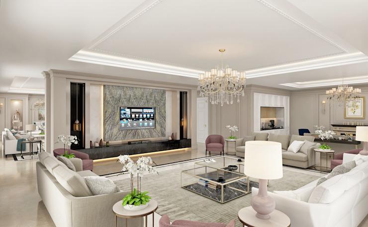 Salon Salon de style classique par Sia Moore Archıtecture Interıor Desıgn Classique