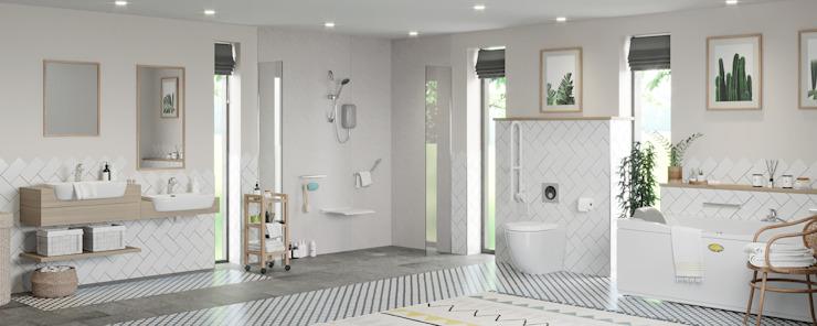Vie autonome - Idées de salle de bains Salle de bains moderne par Victoria Plum Modern