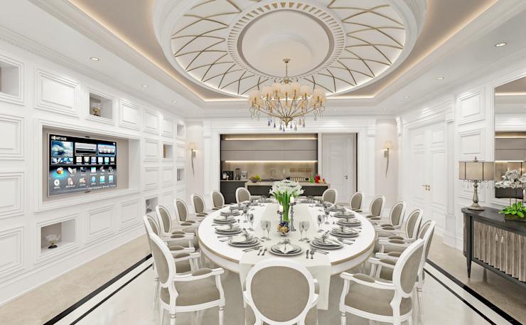 Salle à manger Salon de style classique par Sia Moore Archıtecture Interıor Desıgn Classique