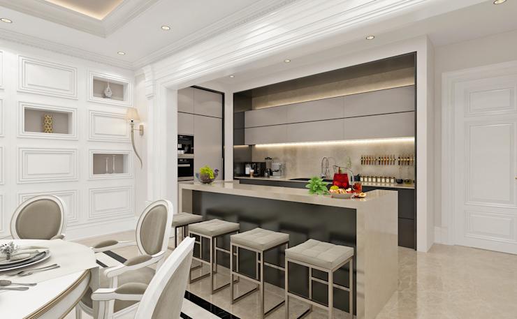Cuisine Salon de style classique par Sia Moore Archıtecture Interıor Desıgn Classique