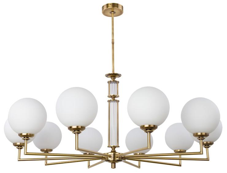 Lampes en verre Artu Lustres de luxe 10 abat-jour en verre armé Éclairage en laiton par lustre de luxe Cuivre/bronze/laiton classique