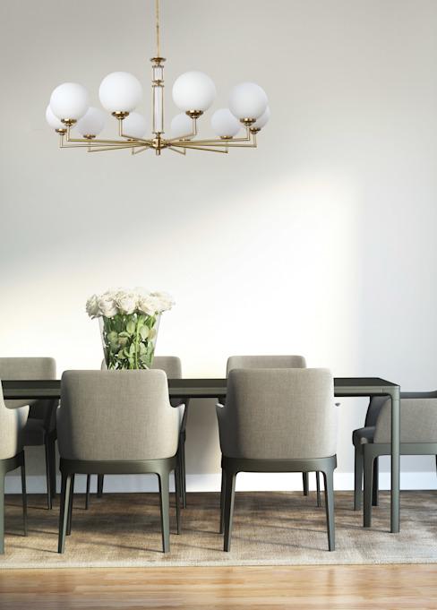Artu Glass Designer Lamp Lustres de luxe 10 abat-jour en verre armé Laiton Inspiration d'éclairage Salle à manger de style classique par Lustre de luxe Cuivre/Bronze/Bras