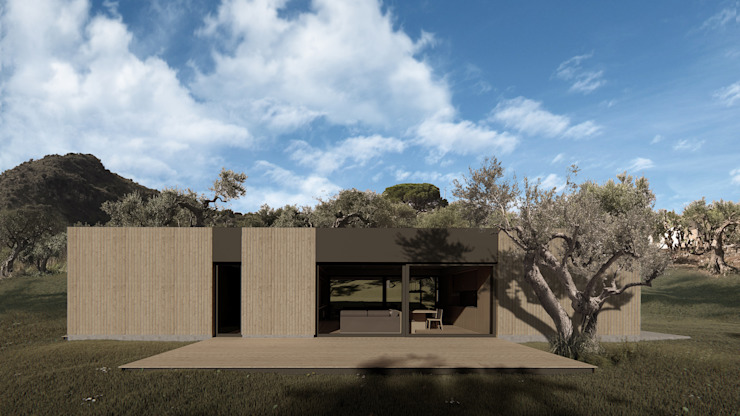 Maison en bois de ALESSIO LO BELLO ARCHITETTO a Palermo Country Wood effect