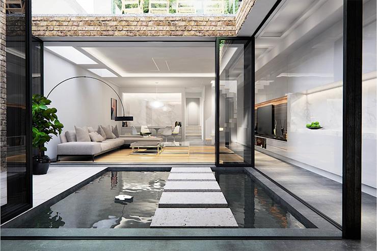 Extension et rénovation du sous-sol - Streatham par Armstrong Simmonds Architects Modern