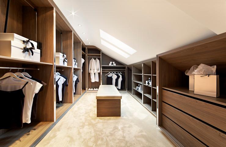 Custom Loft Walk in Wardrobes London : modern by Metro Wardrobes London, Modern