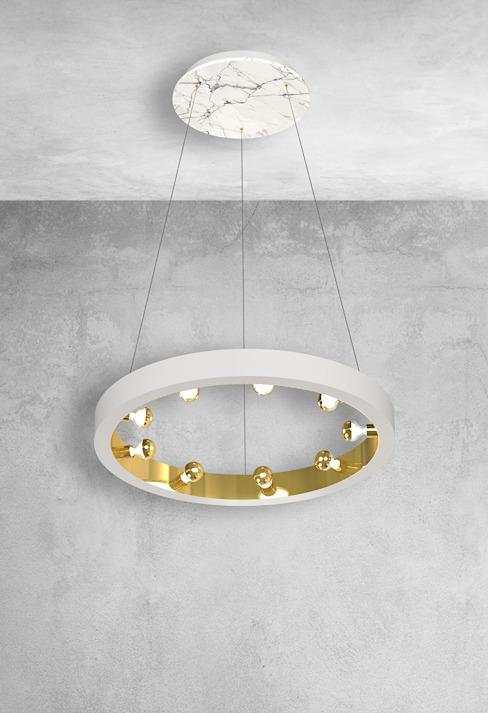 Plafonnier de l'îlot de cuisine en marbre blanc : moderne par Luxury Chandelier, Modern Marble