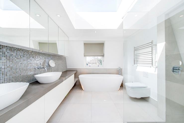 Salle de bains et éclairage contemporains Salle de bains moderne par homify Modern