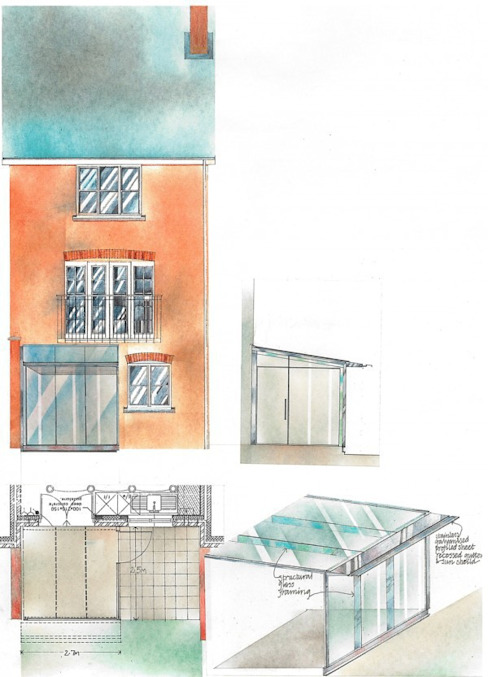 Conservatoires et jardins d'hiver Maisons de style éclectique par 4D Studio Architects and Interior Designers Eclectic