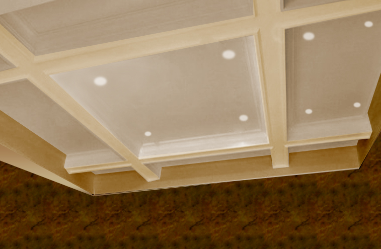Plafond à caissons contemporain