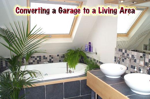 Conversion d'un garage à une zone de vie