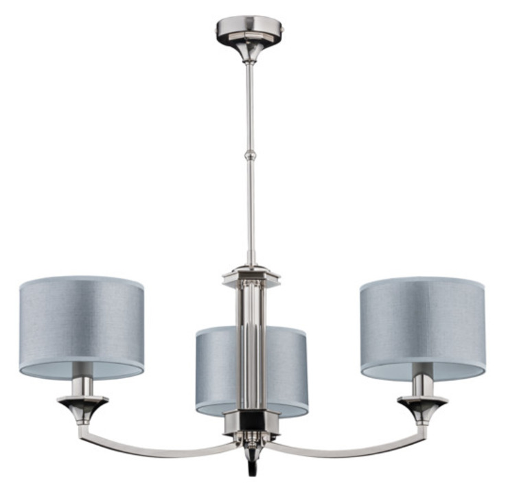 Plafonnier de luxe à 3 bras avec finitions en nickel, abat-jour Versace, cristaux Swarovski : classic by Luxury Chandelier, Classic Copper/Bronze/Brass