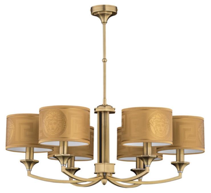 Collection Versace de lampes en laiton faites à la main, finitions en or : classique par Luxury Chandelier, classique cuivre/bronze/laiton