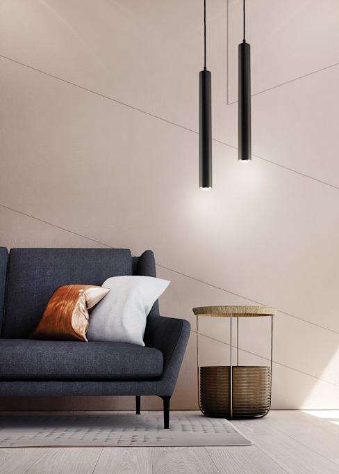 Desio Modern Brass Plafonnier simple Pendentif Lampes de cuisine à leds Style minimaliste Salon minimaliste par Lustre de luxe Minimaliste
