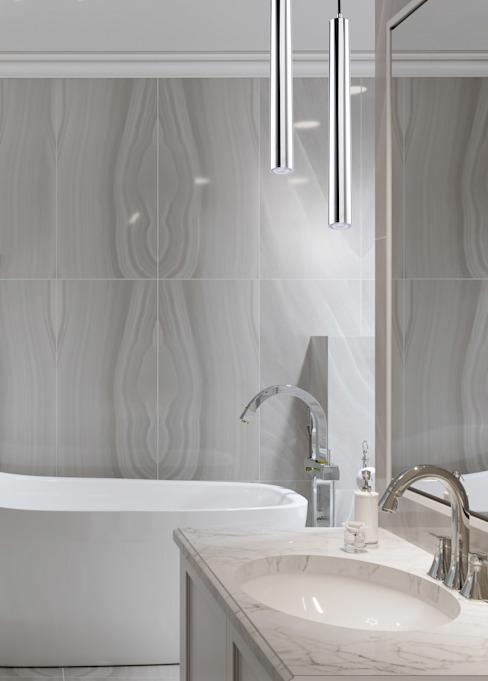 Desio Plafond moderne en laiton Pendentif Lumière Led Salle de bains : moderne par Lustre de luxe, Cuivre/Bronze/Bras moderne