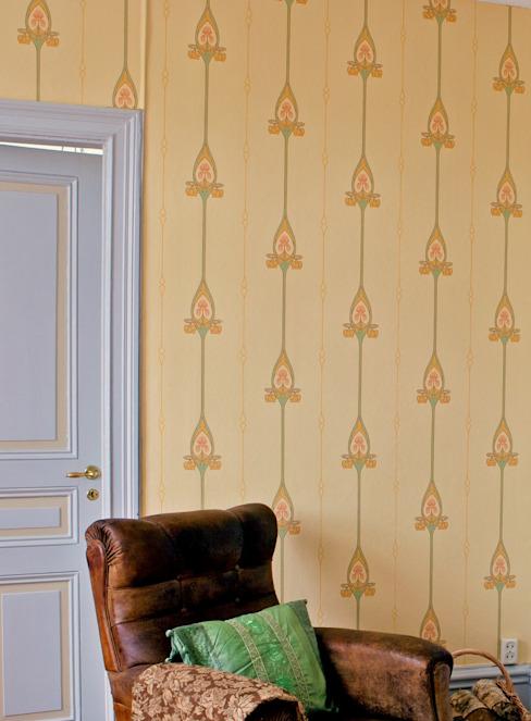 Murs et sols de style classique par Carta da parati degli anni 70 Classic