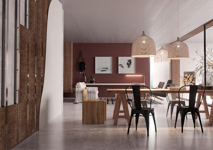 Matériaux de construction pour la maison Salon moderne par Go4cork Modern Cork