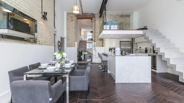 Cuisine et salle à manger intelligentes Salle à manger minimaliste par Urbaniste Architecture Minimaliste Effet bois